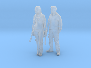 Printle C Couple 548 - 1/87 - wob in Smooth Fine Detail Plastic