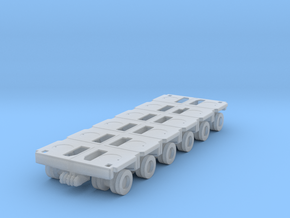 Goldhofer SPMT Modular Trailer 1/200 in Smooth Fine Detail Plastic