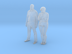 Printle C Couple 553 - 1/87 - wob in Smooth Fine Detail Plastic