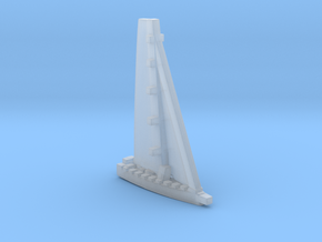 Racing yacht / MICRO, waterline in Smooth Fine Detail Plastic