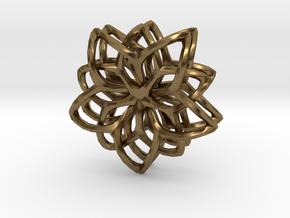 Flower Loops Pair in Natural Bronze