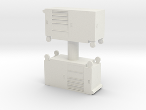 Toolbox Trolley (x2) 1/64 in White Natural Versatile Plastic
