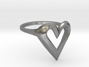 FLYHIGH: Skinny Heart Ring 15mm in Natural Silver