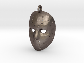 Jason Voorhees Mask Pendant in Polished Bronzed-Silver Steel