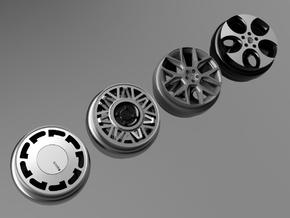 1/64 scale Wheel Multi Pack G - VW GTI in Smoothest Fine Detail Plastic