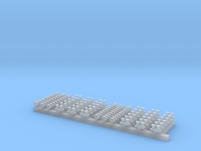 1:350 USN Reduced RCS Bitts and Chocks in Smooth Fine Detail Plastic