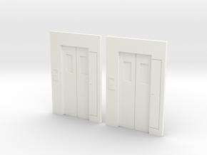 B-01 Lift Entrances - Type 1 (Pack of 2) in White Processed Versatile Plastic
