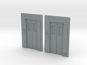 B-01 Lift Entrances - Type 1 (Pack of 2) in Polished Metallic Plastic
