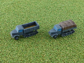 German KHD S3000 Maultier Halftrack Trucks 1/285 in Smooth Fine Detail Plastic
