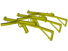 1/15 scale Sterling L-2A3 submachineguns B x 3 in Smooth Fine Detail Plastic