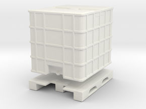 IBC Container Tank (separated) 1/64 in White Natural Versatile Plastic