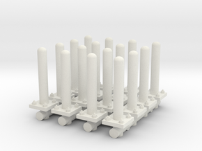 Safety Poles (x16) 1/76 in White Natural Versatile Plastic