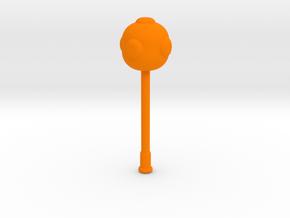Long Mace in Orange Processed Versatile Plastic
