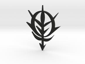 Zeon Emblem 6.5 cm tall in Black Natural Versatile Plastic