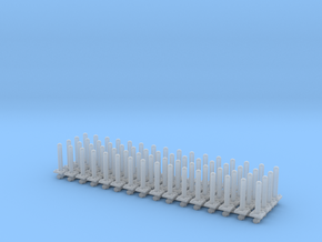 Safety Poles (x64) 1/160 in Smooth Fine Detail Plastic