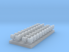 1:350 Scale Cargo Boxes on Pallets in Smooth Fine Detail Plastic