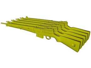 1/12 scale MAS-49 rifles x 5 in Smooth Fine Detail Plastic