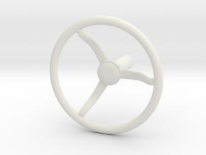 Military Steering Wheel in White Natural Versatile Plastic