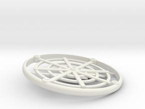Shaman Pendant 2.1 in White Natural Versatile Plastic