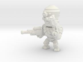 chibi assassin droid in White Natural Versatile Plastic