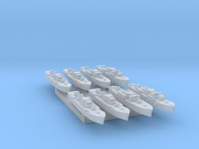 8pk Fairmile D MTB/MGBs WW2 1:2400 FUD in Smooth Fine Detail Plastic