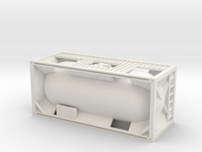 20ft Tank Container 1/72 in White Natural Versatile Plastic