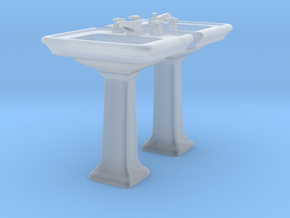 Toilet Sink Ver03. 1:24 Scale in Smooth Fine Detail Plastic