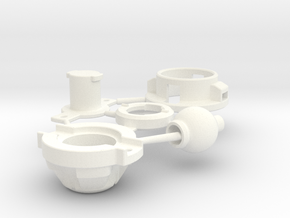 React Driver in White Processed Versatile Plastic
