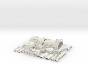 Skymaster F-14 Scale Main Gear Upgrade Part-Part 1 in White Natural Versatile Plastic