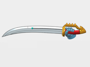 10x Left-handed Energy Sword: Dragoon in Smooth Fine Detail Plastic