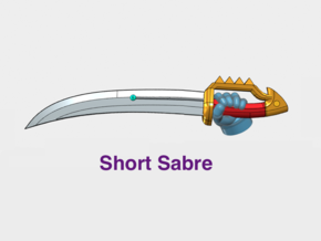 10x Left-handed Energy Sword: Short Dragoon in Smooth Fine Detail Plastic
