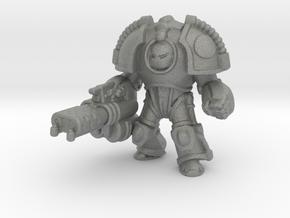 Saturn Terminator Heavy Flamer miniature games rpg in Gray PA12
