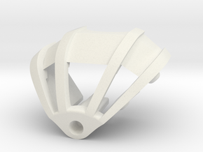Toa Hordika Shoulder Armor in White Natural Versatile Plastic
