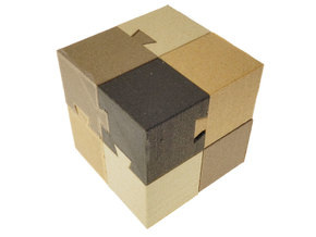 Dovetail Cube in White Natural Versatile Plastic