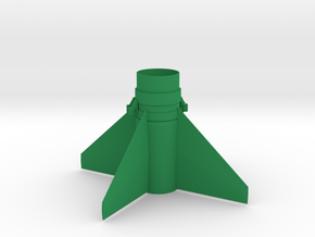 Honest John (M31) Fin Unit BT55 -18mm motors in Green Strong & Flexible Polished
