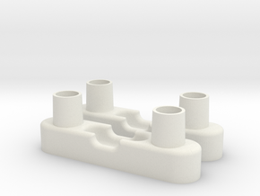 Exovest Floor pads in White Natural Versatile Plastic