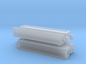 4 x Beleuchtungskasten für Haltestellen Wien in Smooth Fine Detail Plastic