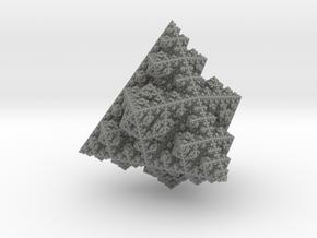 Fractal  Ornament 'Sierpinski pyramid' in Gray PA12