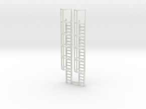 20ft Cage Ladder (x2) 1/100 in White Natural Versatile Plastic