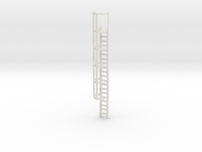 20ft Cage Ladder 1/56 in White Natural Versatile Plastic