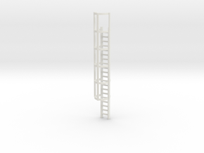 20ft Cage Ladder 1/35 in White Natural Versatile Plastic