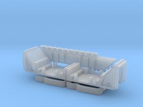 Monorail Bombardier Mark VI Car Interior N 1:160 in Smooth Fine Detail Plastic
