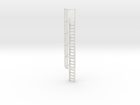 20ft Cage Ladder 1/24 in White Natural Versatile Plastic