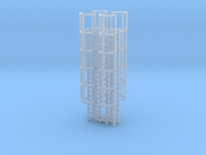 20ft Cage Ladder (x4) 1/144 in Smooth Fine Detail Plastic