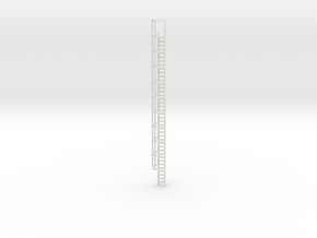 40ft Cage Ladder 1/87 in White Natural Versatile Plastic