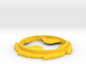 Immortal Ring in Yellow Processed Versatile Plastic