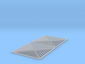 1:12 Ceiling Vent 50x50 2pc in Smooth Fine Detail Plastic