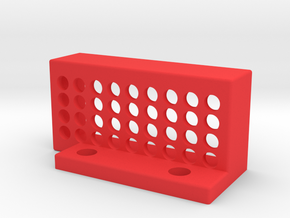 LeftHandedTouchPlateHolder in Red Processed Versatile Plastic