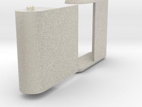 "Folding card holder for 2.5"" square cards in Natural Sandstone"