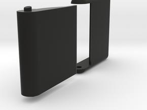 "Slim, folding card holder for 2"" square cards in Black Natural Versatile Plastic"